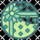 Giftbox Shape Ribbon Icon