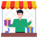 Vendor Gifts Shop Gift Store Icon