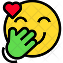 Giggle Heart Smile Icon
