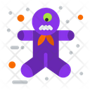 Ginger Gingerbread Man Halloween Scary Icon