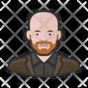 Ginger Bald Beard Man Ginger Bald Icon