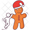 Ginger Bread Christmas Cartoon Food Icon
