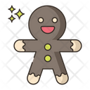Ginger Bread Cookies Bakery Icon