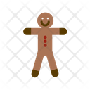 Ginger Breadman Breadman Christmas Cookies Icon