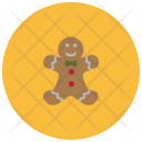 Gingerbread Man Cookie Icon