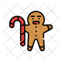 Gingerbread Sweet Candy Icon