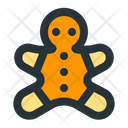 Gingerbread Christmas Snack Icon