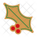 Gingerbread Holly Cookie Icon