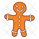 Gingerbread Cookie Man Icon