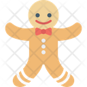 Gingerbread Ginger Man Christmas Cookie Icon