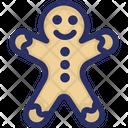Christmas Gingerbread Man Icon