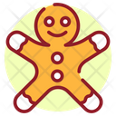 Gingerbread Christmas Cartoon Gingerbread Man Icon