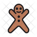 Gingerbread Cookie Biscuit Icon