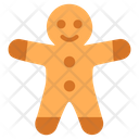 Gingerbread Man Christmas Bread Christmas Gingerbread Icon