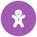 Gingerbread Clown Buffoon Icon