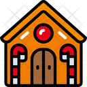 Gingerbread House Food Holidays Icon