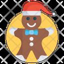 Gingerbread Christmas Cartoon Gingerbread Man Icon