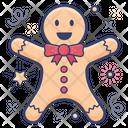 Gingerbread Man Christmas Cartoon Christmas Gingerbread Icon