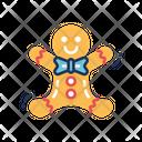 Gingerbread Man Christmas Sweet Icon