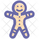 Cookie Gingerbread Man Christmas Icon
