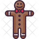 Gingerbread Man Cookie Gingerbread Icon