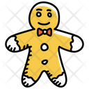 Gingerbread Man Cookie Biscuit Icon