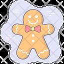 Christmas Holiday Gingerbread Man Icon