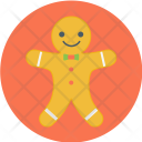 Gingerbread Man Bakery Icon