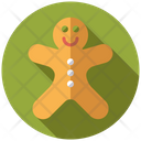 Gingerman Ginger Bread Baked Man Icon