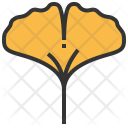 Ginkgo Leaf Greenery Icon