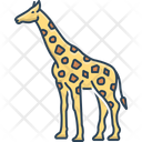 Giraffe Tall Fauna Icon