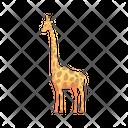 Giraffe Mammal Safari Icon