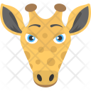 Giraffe Face Long Icon