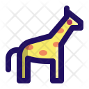 Giraffe Safari Zoo Icon