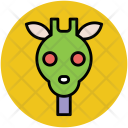 Giraffe Face Cartoon Icon
