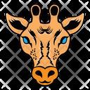 Giraffe Mascot Giraffe Face Camelopard Face Icon