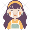 Happy tears Girl Icon