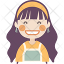 Grinning Girl Icon