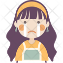 Sad Crying Girl Icon