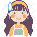 Anxious Girl Icon