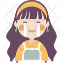 Silently Crying Girl Icon