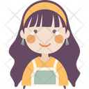 Smile Crying Girl Icon
