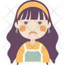 Annoyed Face Girl Icon