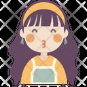Duck Face Girl Icon