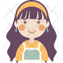 Worried Face Girl Icon