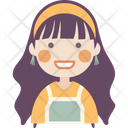 Smiling Girl Icon