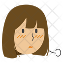 Sighing Girl Icon