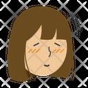 Girl Nodding Icon