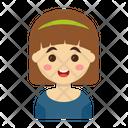 Girl Character Cartoon Icon