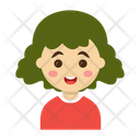 Girl Cartoon Kids Icon
